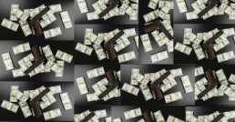 tiled cash and guns