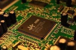 electronics circuit chip microchip